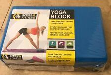"""NEW-Series 8 Fitness Yoga Foam Block - Blue & Black 9""""x6""""x3"""""""