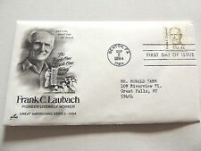 "September 2nd, 1984 ""Frank C. Laubach"" First Day Issue"
