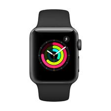 Apple Watch Series 3 38mm Aluminiumgehäuse in Space Grau mit Sportarmband in Schwarz (GPS) - (MQKV2ZD/A)