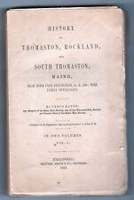 1865 HISTORY THOMASTON Rockland SOUTH THOMASTON MAINE Cyrus Eaton HALLOWELL ME
