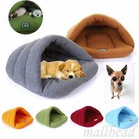 Pet Cat Dog Nest Bed Puppy Soft Warm Cave House Winter Sleeping Bag Mat Pad new
