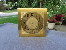 Embossed Brass Dial Weight Shelf Mantle Wall Clock Dial Ansonia Waterbury German