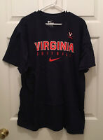 NWT Virginia UVA Cavaliers Men's Football Team Issued Nike T-Shirt Blue 2XL