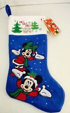 "Disney Mickey & Minnie Musical Christmas Stocking Plays ""Deck The Halls"" Gemmy"