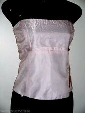 Soft Pink Bead Trim Top 18 Back Lacing Closure Straps Detatchable Bust 98cm L38