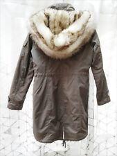 d3e410fe3c8 Laundry by Shelli Segal Anorak Faux Fur Hooded Jacket in Smokestone