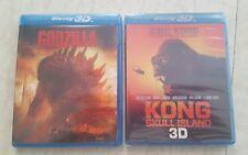 Lot 2 Blu Ray 3D godzilla & king kong