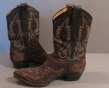 Old Gringo Women's Brown Nubuck Leather Western Cowboy Boots Size 7.5 Stitched