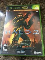 Halo 2 Microsoft Xbox Cib Complete Game Content Unused Decent+ Playable W1