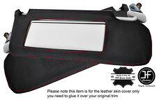 RED STICH 2X SUN VISORS LEATHER COVERS FITS AUDI COUPE QUATTRO S2 B3 B4 88-96