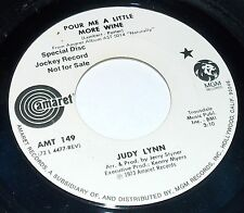 1973 JUDY LYNN FOOTPRINTS ON THE MOON & POUR SOME WINE AMARET PROMO 45 #149 VG+