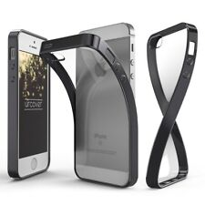 Apple iPhone 5 / 5s / SE Hülle Spiegelrand klar Slim Cover Tasche Back Case Etui