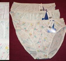 3 Pair Assorted Prints Size 9   50/50 Poly Cotton BIKINI PANTIES USA Made