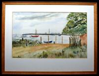 Original Art Watercolour Painting Suffolk Orford Ness c1980s