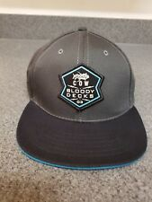 Bloodydecks Holy Cow 2018 Hat Cap Gray Black Snapback BD Outdoors Fishing