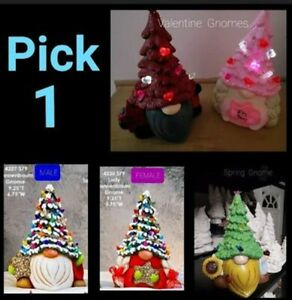 Pick a Gnome Wearing Tree Ready To Paint  Unpainted Ceramic Bisque