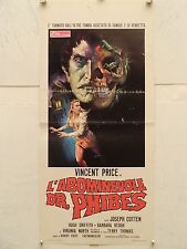 L'ABOMINEVOLE DR. PHIBES horror Locandina originale 1972