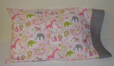 Travel Pillowcase One Handmade Toddler size New cotton, paisley, animals