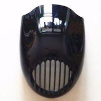 Black Cafe Racer Drage Head Light Headlight Fairing Mask Front Visor For Harley