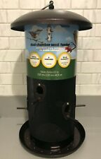 Brand New Garden Treasures Bronze Tube Bird Dual Chamber Feeder 6 Perch 10# Feed