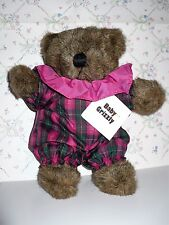 VINTAGE 1982 BABY GRIZZLY BEAR NORTH AMERICAN BEAR CO PLAID SUIT PINK NWT