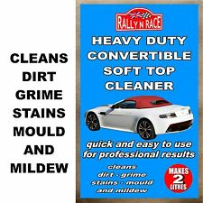 BMW CONVERTIBLE, SOFT TOP, MOHAIR FABRIC ROOF CLEANER - STAINS, MOULD, MILDEW