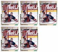 (5) 1991-92 Score Young Superstars Hockey #17 Bob Essensa Card Lot Jets