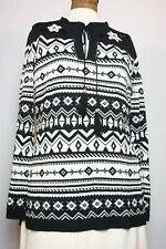 Bloomingdale's Black and White Sweater