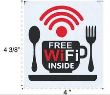 Free WiFi Vinyl Sticker Decal Shop Restaurant Sign Store Office Building Home #3