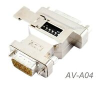 VGA HD15 Male to DB15 Female PC to MAC Monitor Adapter w/ dip switches - AD-A04