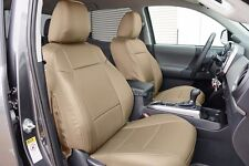 TOYOTA TACOMA 2016- BEIGE LEATHER-LIKE CUSTOM MADE FIT FRONT SEAT COVER