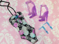 Mattel Monster High Doll CLOTHING Shoes LOT BATHING SUIT Swimsuit Earrings 5pc