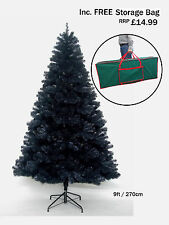 9ft BLACK COLORADO SPRUCE CHRISTMAS TREE WITH 1461 TIPS CT06360
