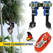 Tree/Pole Climbing Spike Set Safety Belt Strap Rope Adjustable Stainless SteelUs