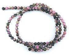 3mm Round Natural Rhodonite Gem Stone Gemstone Beads 15 Inch Strand RB2