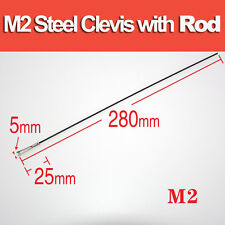 Lanyu M2 Steel Clevis with Rod 12 pcs for RC Model