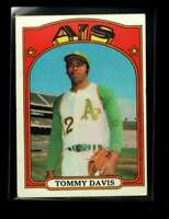 1972 TOPPS #41 TOMMY DAVIS VG+ ATHLETICS