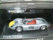 1/43 PORSCHE 718 RS60 1961 TARGA FLORIO  #136 STIRLING MOSS & G.HILL MINICHAMPS