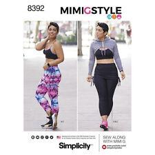 Simplicity SEWING PATTERN 8392 Misses Sports Bra,Cropped Leggings,Mini Hoodie