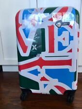 Mia Toro Love Collection Green carry on luggage Robert Indiana Designe in Italy