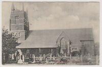 Lancashire postcard - Parish Church, St Annes on Sea - P/U 1906