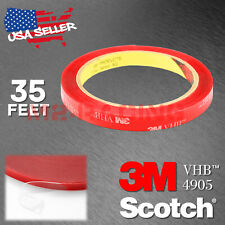 Genuine 3M VHB #4905 Double-Sided Mounting Foam Tape Automotive Car 10mm x 35FT