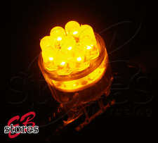 Set of 2pcs Amber Parking Light 15 LED Light Bulbs 2825 7443 - T20 Wedge 1 Pair