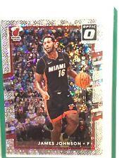 James Johnson #77 White sparkle prizm  2017-18 Panini Donruss Optic Miami Heat