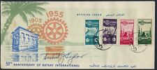 SYRIA 1955 ROTARY 50th ANNIVERSARY CACHETED COVER ex HERBERT J TAYLOR W/HIS AUTO