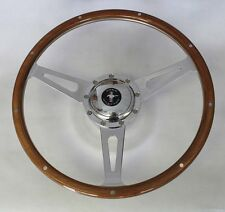 """1965-1967 Ford Mustang Retro Cobra Style 9 hole Steering Wheel 15"""" Mustang cap"""