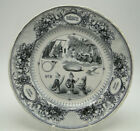 Old+French+Puzzle+Plate+Rebus+Porcelaine+Opaque+Johnston+Vieillard+Bordeaux+%233