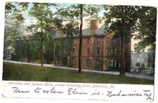 1907 Postcard: Christmas & Sancon Halls,Lehigh University, Bethlehem Pa