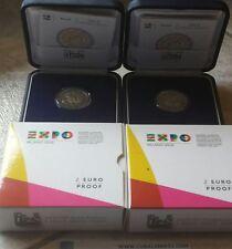 2 EURO ITALIA ITALY ITALIE 2015 FS PROOF BE PP - EXPO MILANO