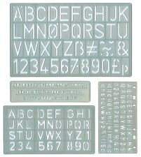 Set of 4 Lettering and number stencil Stencils 4 sizes craft school project new